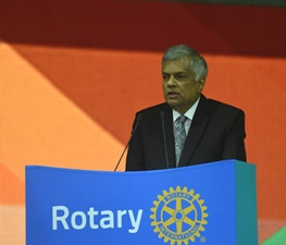 30 may 2016 Hon Ranil Wickremesinghe addressing rotary international convention