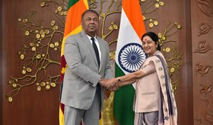 Hon Minister Samaraweera visit to india jan2015