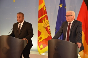Federal Foreign Minister of Germany, Frank-Walter Steinmeier, Foreign Minister Mangala Samaraweera visited Berlin from 21st - 23rd May 2015