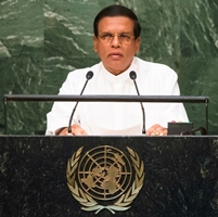 His Excellency Maithripala Sirisena, President of the Democratic Socialist Republic of Sri Lanka General Assembly Seventieth session 9th plenary meeting: High-level plenary meeting of the (6th meeting)