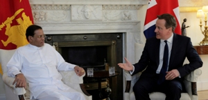president sirisena british pm 10mar2015