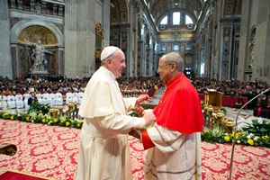 His Holiness Pope Francis & His Eminence Malcom Cardinal Ranjith